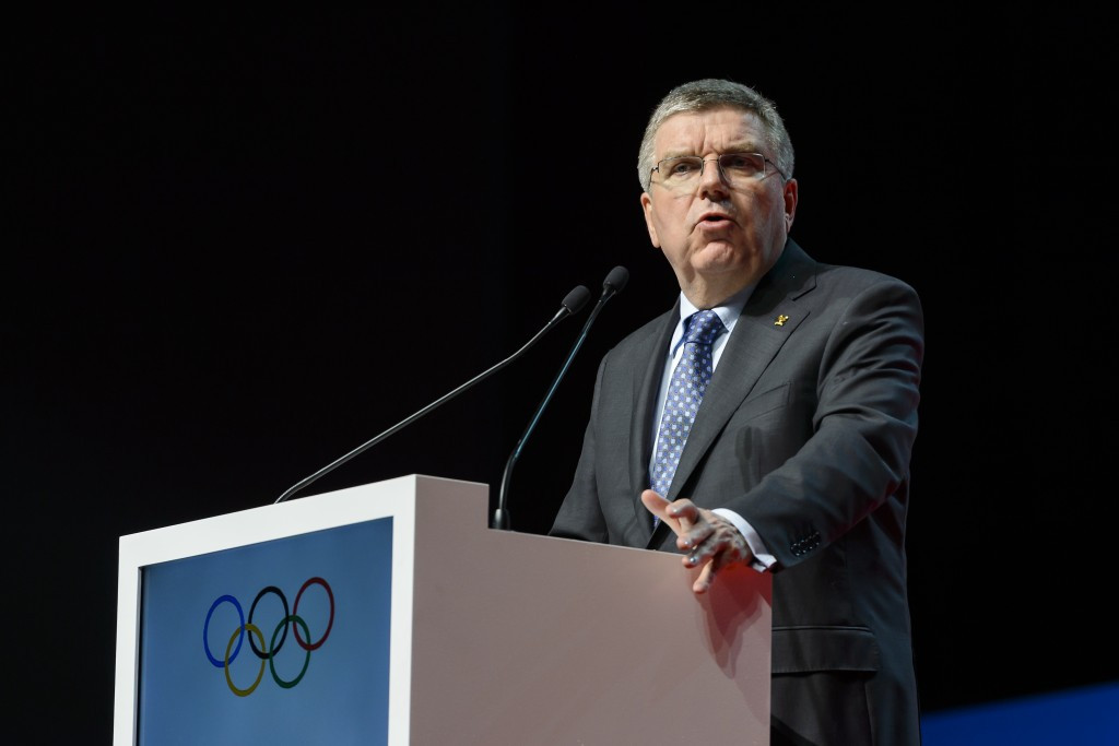 Thomas Bach says a