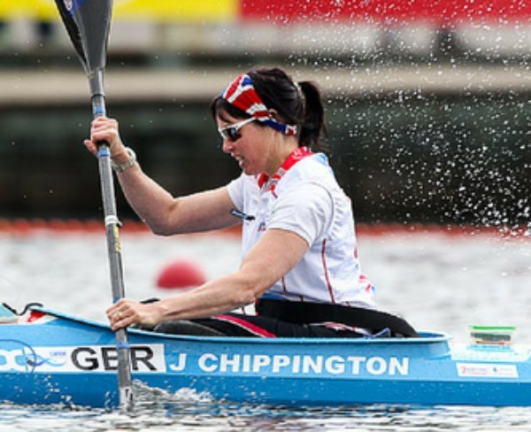 Four-time world champion Jeanette Chippington was among comfortable heat winners today ©British Canoeing