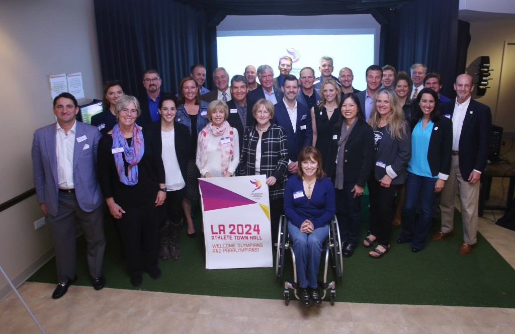 More than 30 Olympians and Paralympians gathered in Chicago ©LA2024