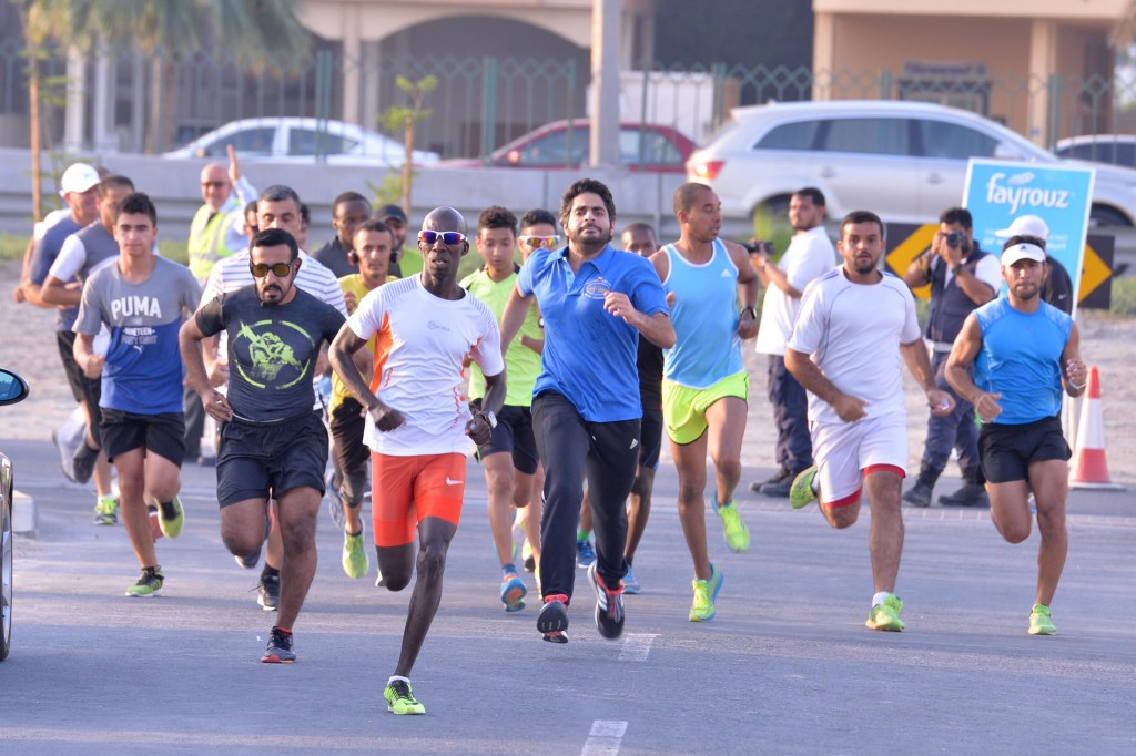 Ahmed Joda won his second race of the two-week Olympic Day activities