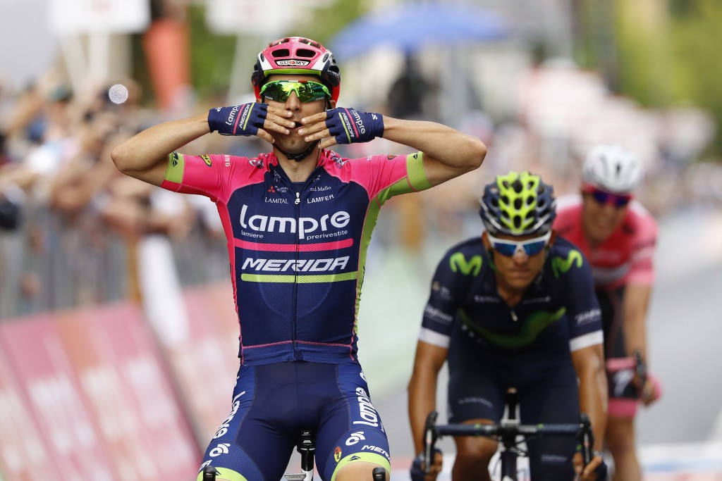 Ulissi wins second Giro D'Italia stage as Jungels keeps hold of lead