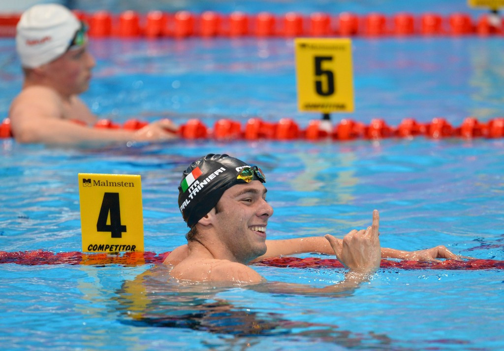 Italy's Gregorio Paltrinieri swam the second-fastest men's 1,500 metres time in history ©Getty Images