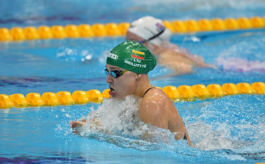 Lithuanian Olympic champion Rūta Meilutytė took European gold in the women's 100m breaststroke