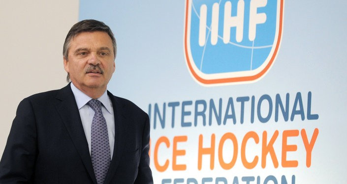 Switzerland's René Fasel has been re-elected for a sixth term as President of the IIHF ©Getty Images
