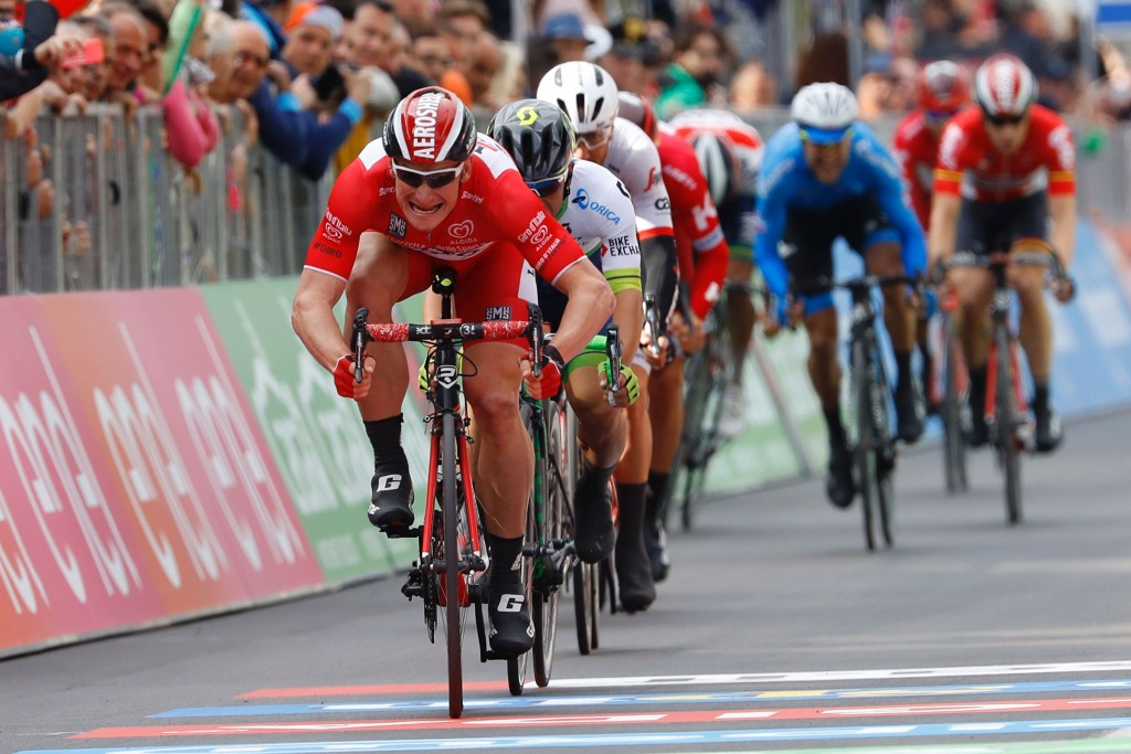Greipel wins historic third stage of 2016 Giro d'Italia but quits race