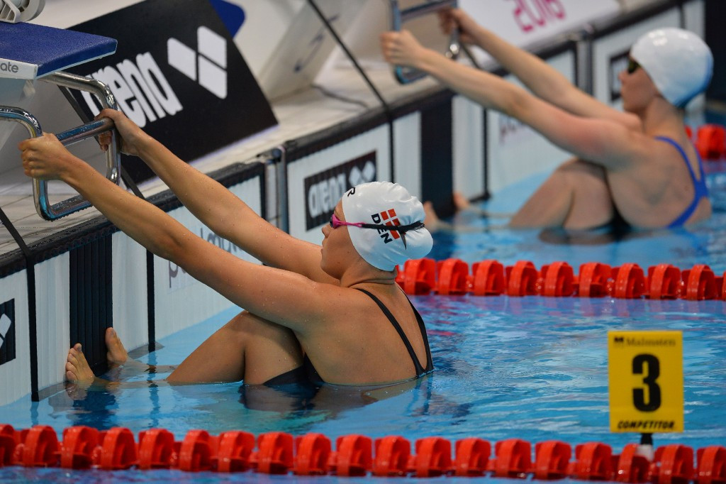 Mie Nielsen of Denmark pipped Katinka Hosszú in a thrilling 100m backstroke final ©Getty Images