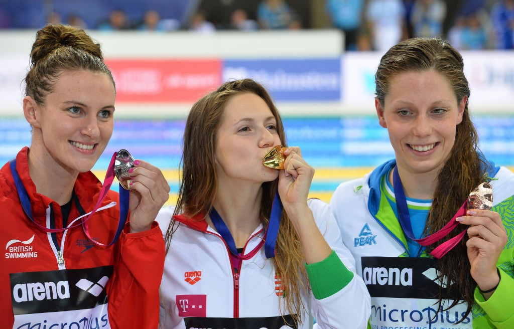 Boglarka Kapas had got Hungary off to the best possible start with her nation's first gold of the evening ©Getty Images