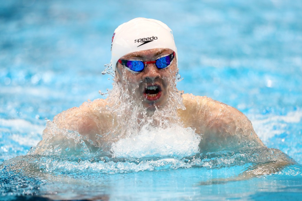 Ross Murdoch gave the home crowd something to cheer with victory in the men's 200m breaststroke ©Getty Images