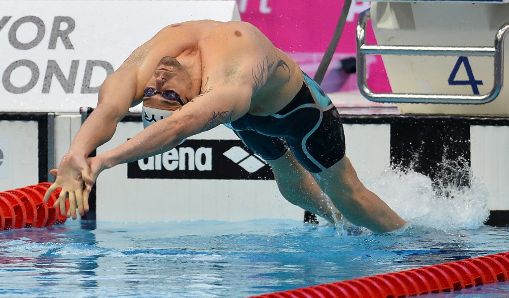 World champion Camille Lacourt of France won the men's 50m backstroke ©Getty Images