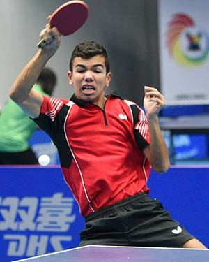 Young egyptian defeats home hope to reach men 39 s main draw - African table tennis federation ...