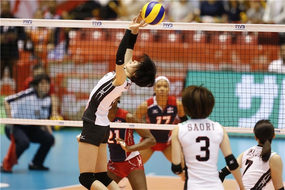 A superb serving performance steered Japan to victory over Dominican Republic ©FIVB