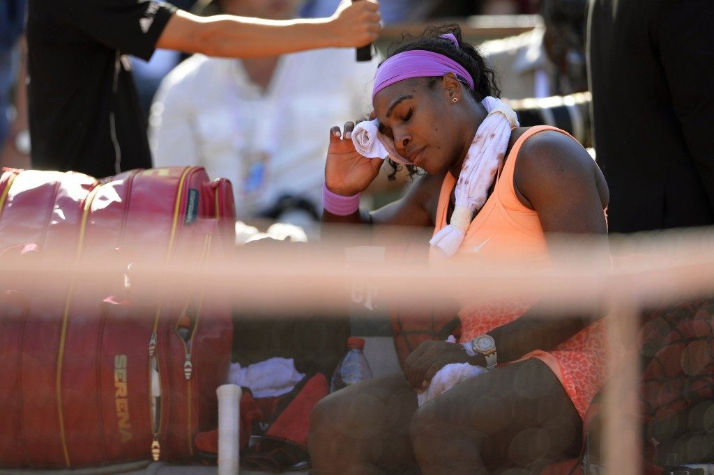 Serena Williams battled through illness to secure her spot in the women's final ©AFP/Getty Images