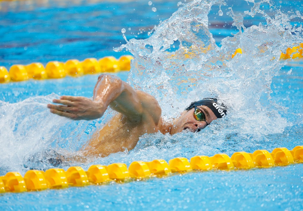 Gregorio Paltrinieri won the 800m freestyle to follow his 1500m freestyle success ©Getty Images