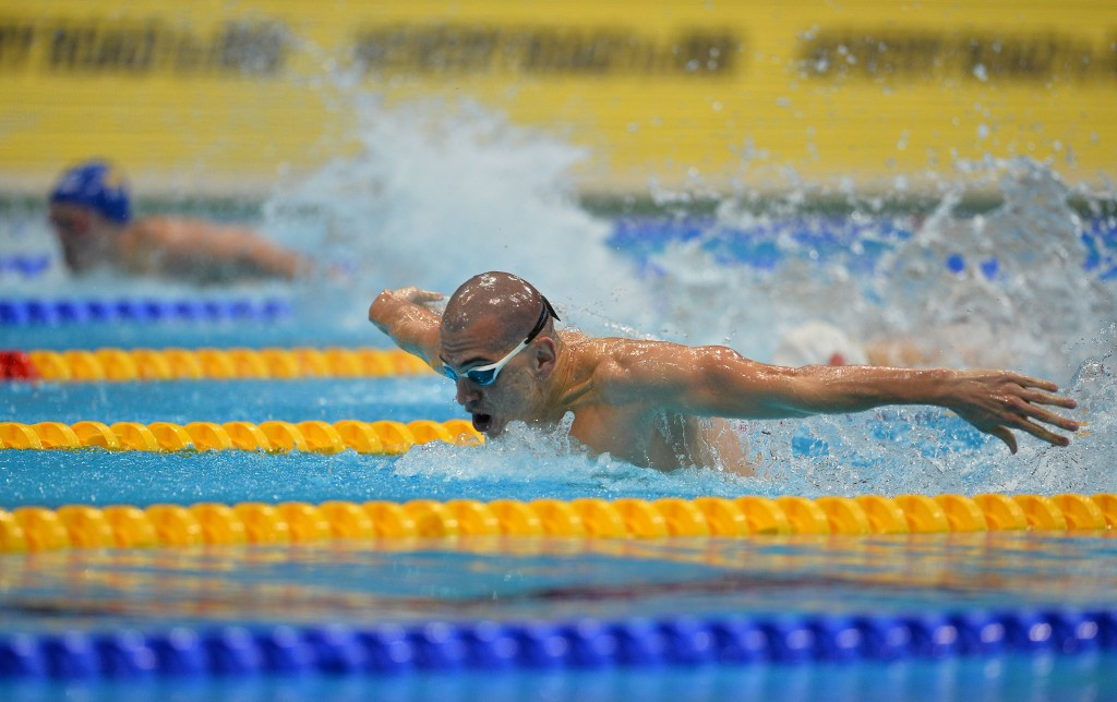 Lazslo Cseh completed the 100 and 200m butterfly double ©Getty Images