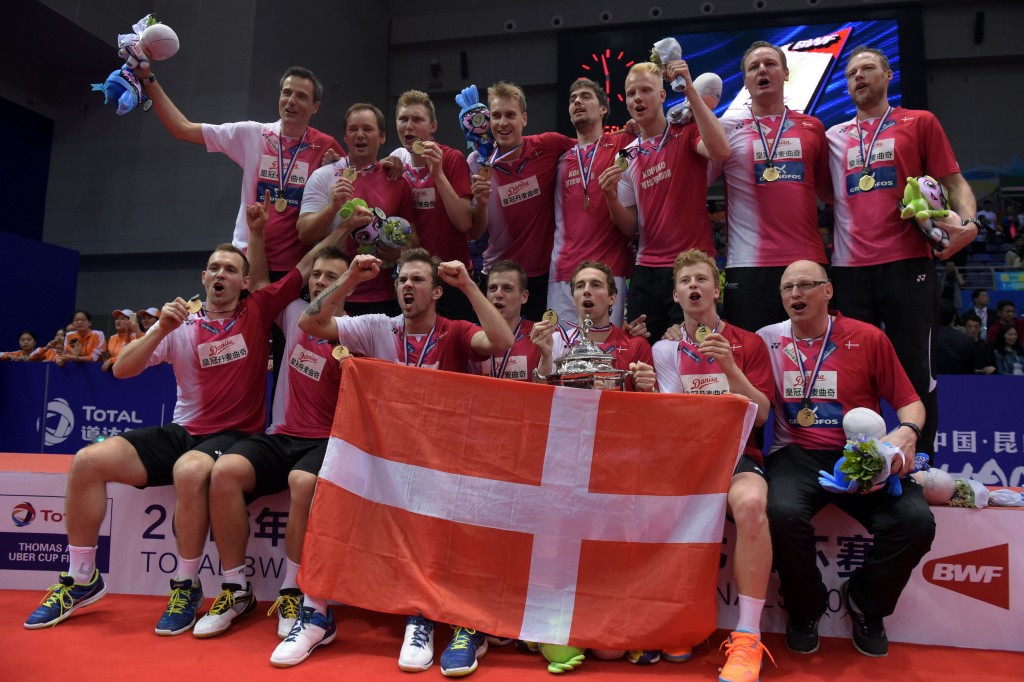 Denmark become first European country to win BWF Thomas Cup