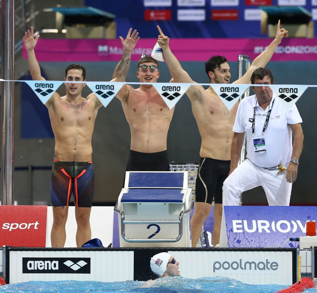 Britain send home crowd wild with medley relay double to top European Aquatics Championships medals table