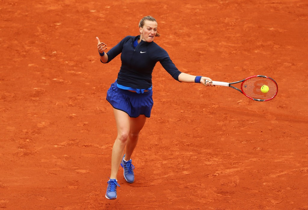 Kvitova survives scare as rain ruins opening day of French Open