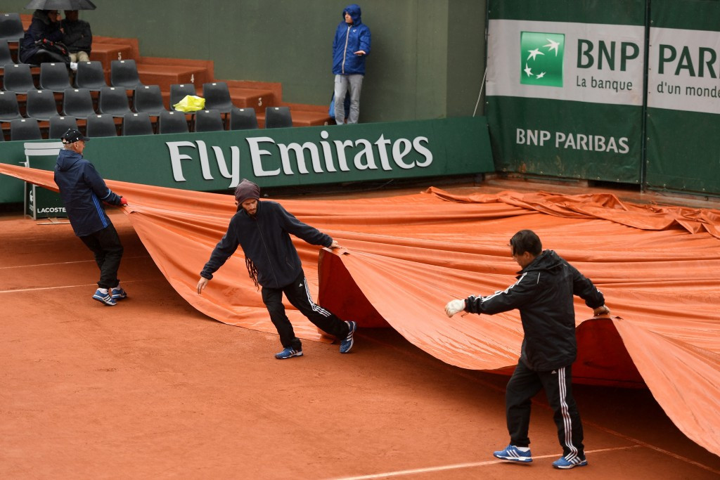 Rain delays curtailed the opening day of action