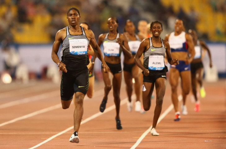 South Africa's Caster Semenya, pictured winning the 800m at the opening IAAF Diamond League meeting in Doha earlier this month, ran even faster to win in the first African Diamond League meeting in Rabat ©Getty Images