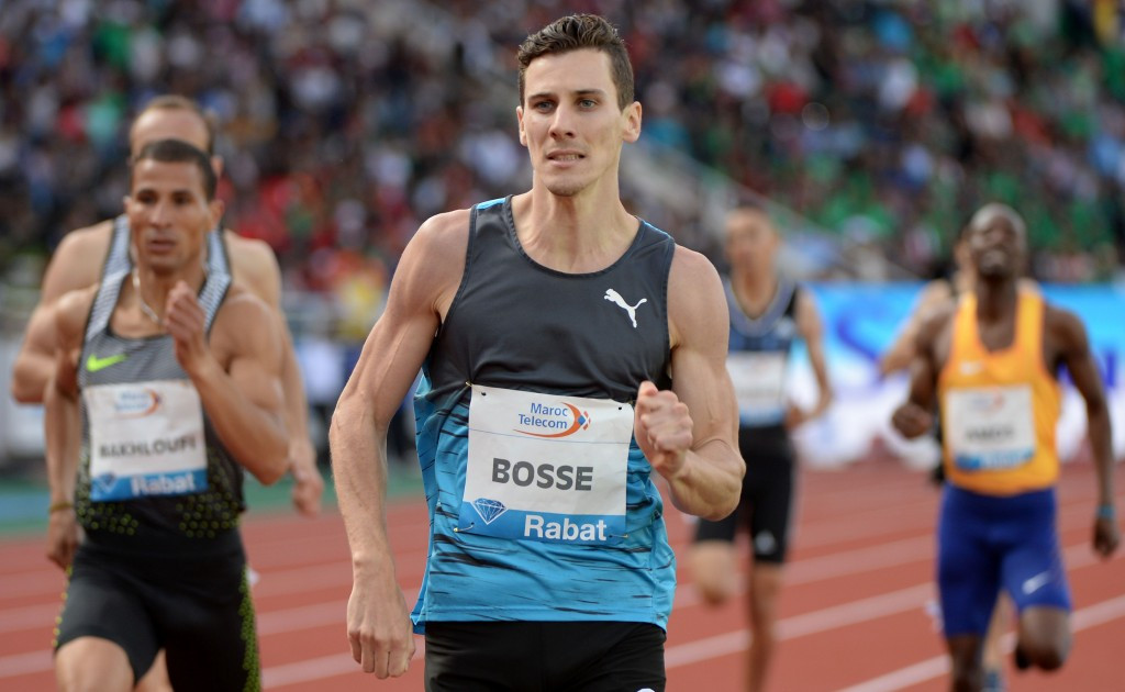Pierre-Ambroise Bosse earned victory in the men's 800 metres