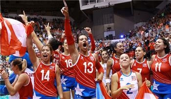 Puerto Rico made history with Olympic qualification ©FIVB