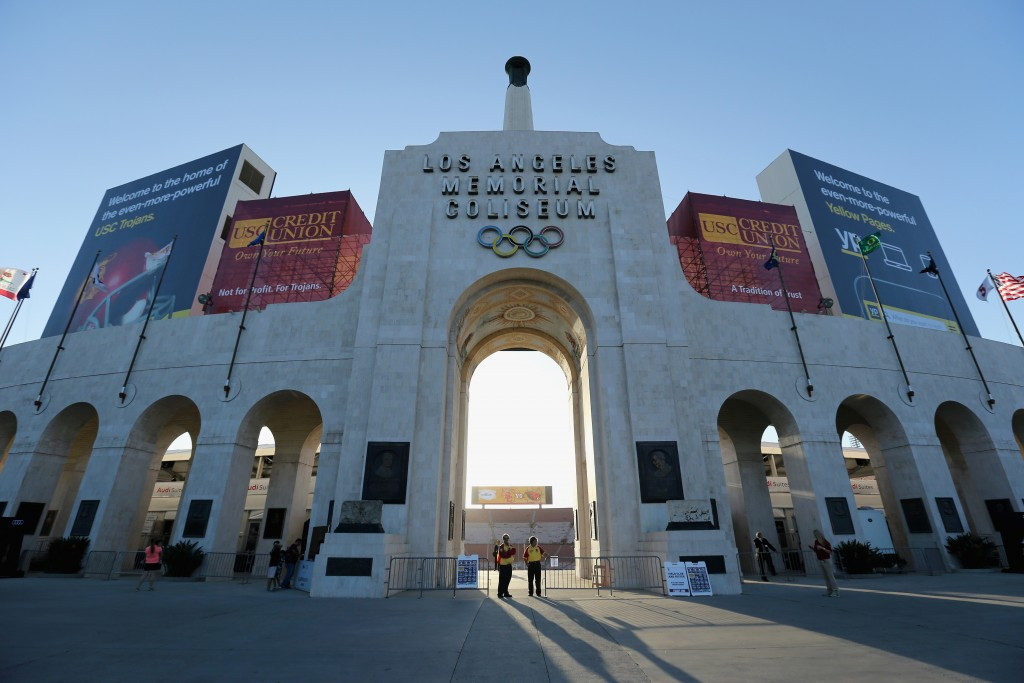 Ninety-seven per cent of Los Angeles' proposed venues, including the Coliseum, are already built