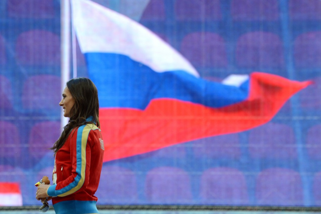 Yelena Isinbayeva claims the ban on Russian athletes at Rio 2016 is a violation of her human rights ©Getty Images