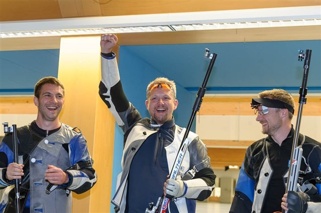 Grimmel wins close battle to claim rifle gold at ISSF World Cup