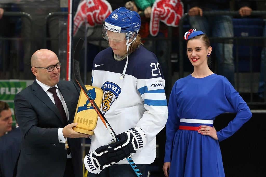 Laine named as IIHF World Championship MVP