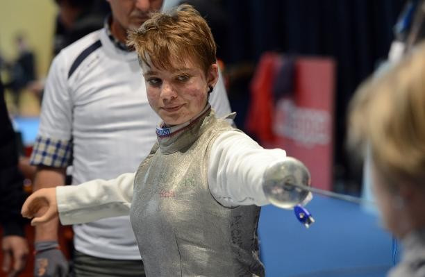 Beatrice Vio defended her women's category B foil title ©Agosoto Bizzi/IPC