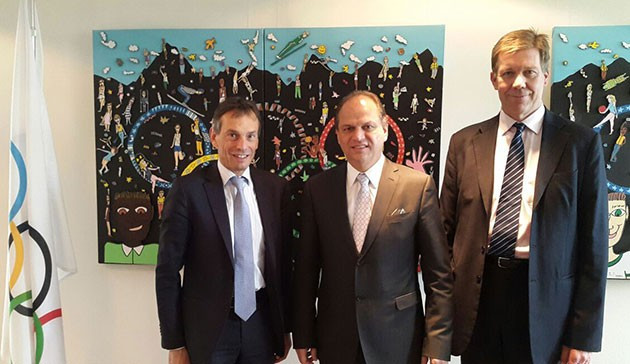 Brazil's Minister of Health Ricardo Barros met with International Olympic Committee (IOC) director general Christophe De Kepper and scientific director Richard Budgett, with Zika high on the agenda