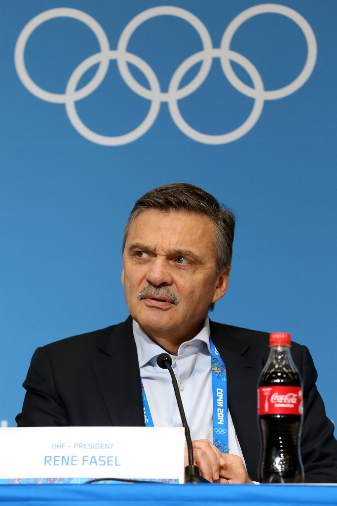 IIHF President René Fasel has blamed the IOC's decision to cut transportation and insurance costs for the challenges to guarantee participation ©Getty Images