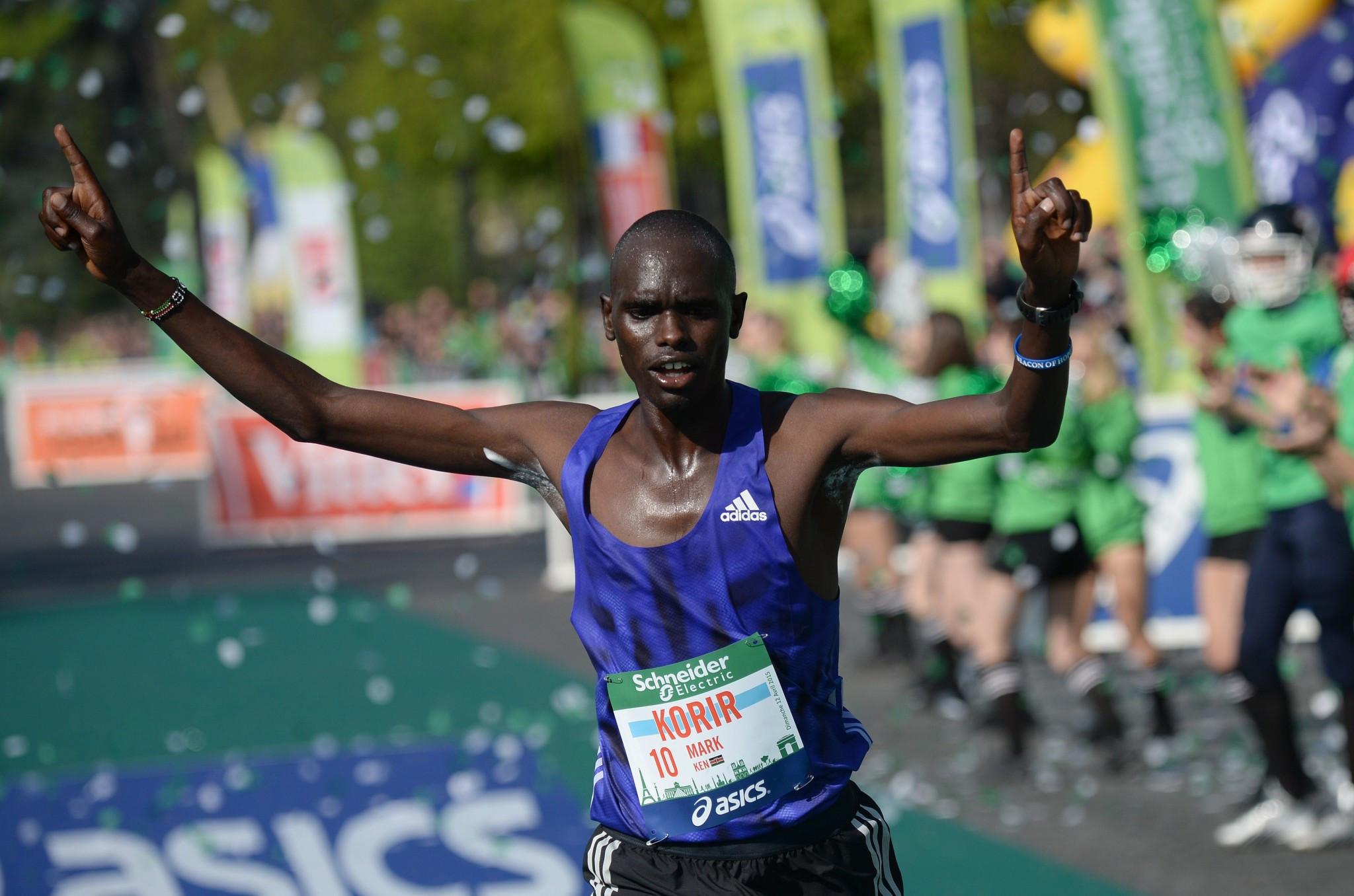 Victory for Kenyan Korir and Ethiopian Mengistu at Paris Marathon