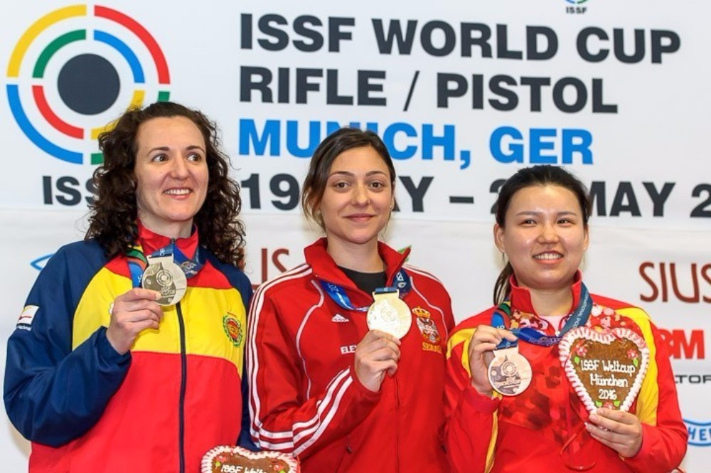 Bobana Velickovic triumphed in the women's 10m air pistol event