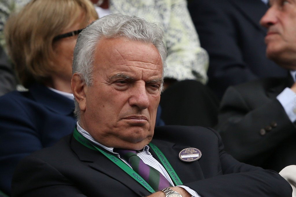 Francesco Ricci Bitti, pictured at Wimbledon in 2013, is the subject of an aggressive Vizer outburst ©Getty Images