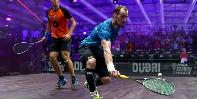 Frenchman Gregory Gaultier reached the semi-finals as he finished top of Group B
