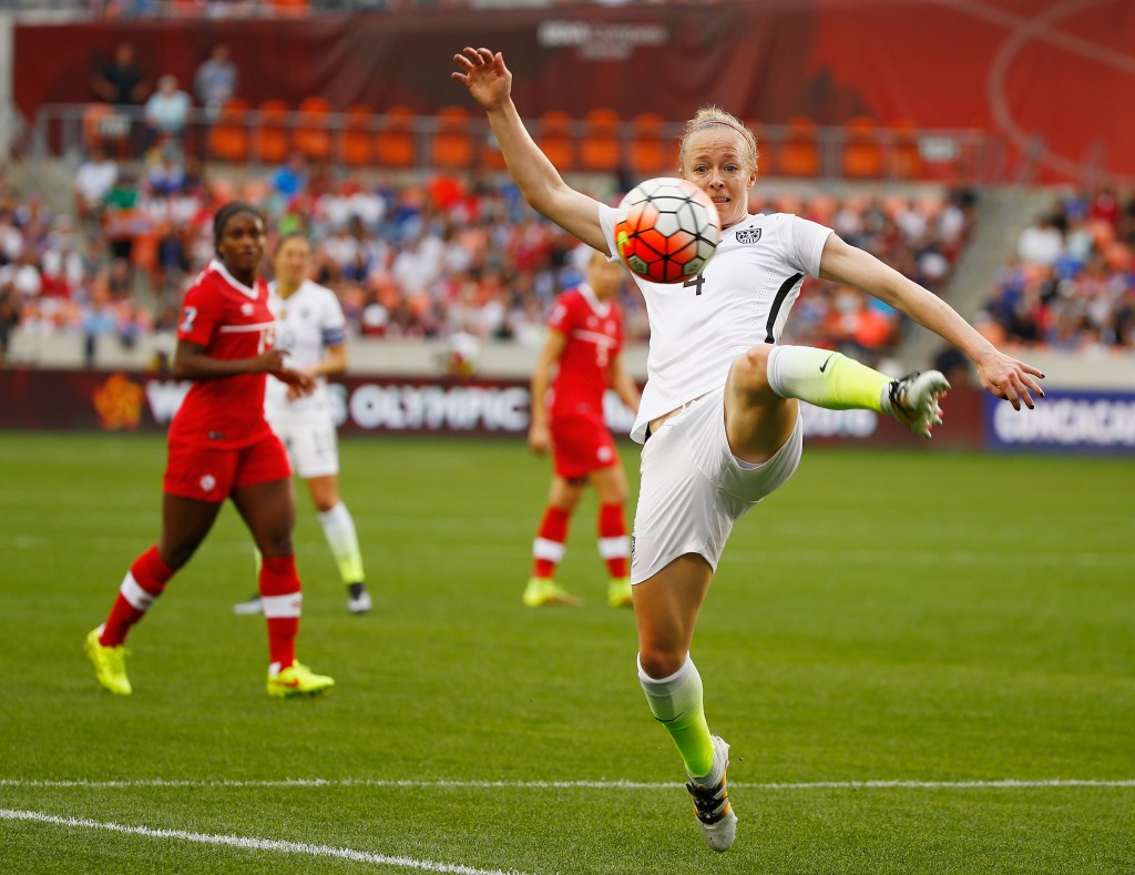 Defender and vice-captain Becky Sauerbrunn revealed last month that the United States women's team were considering a boycott of this year's Olympic Games in Rio de Janeiro ©Getty Images