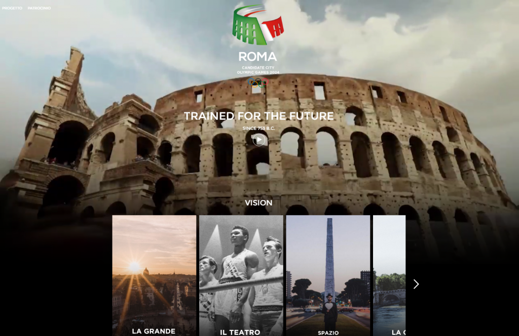 Rome 2024 unveil new website to boost bid for Olympic Games