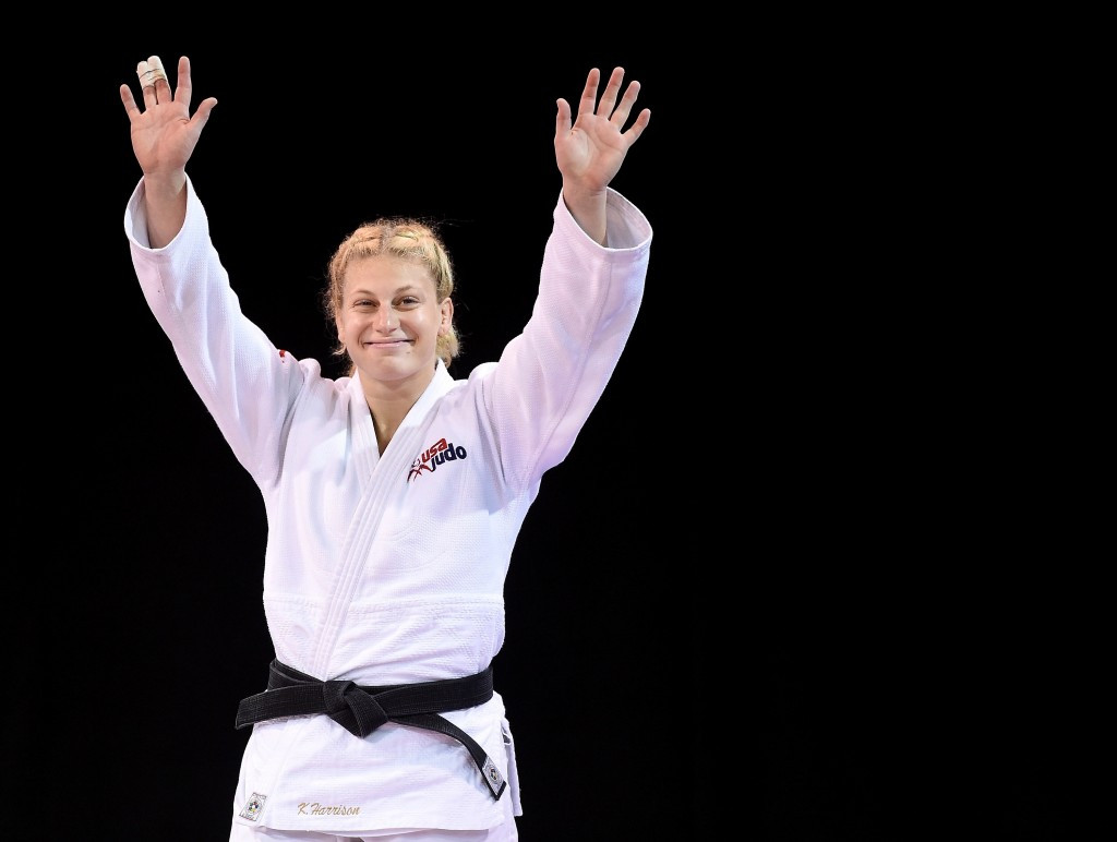 Olympic champion Kayla Harrison could clash with Brazil's Mayra Aguiar at the World Judo Masters ©Getty Images