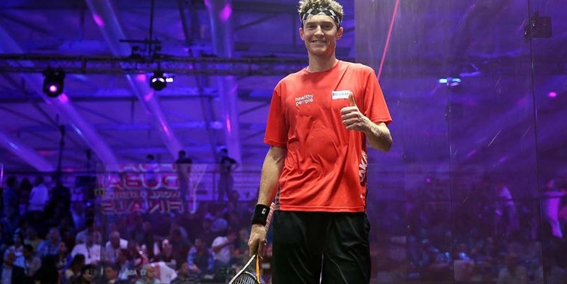 Cameron Pilley stunned Mohamed Elshorbagy to reach the men's final ©PSA