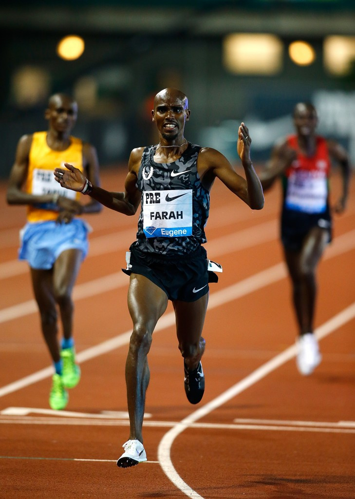 Farah lays down Rio 2016 marker with his third best 10,000m time at Eugene Diamond League