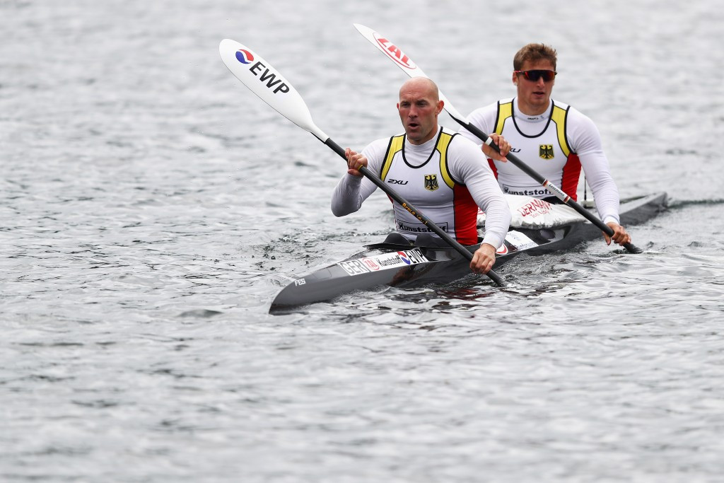 Tom Liebscher and Ronald Rauhe claimed one of three German gold medals ©ICF
