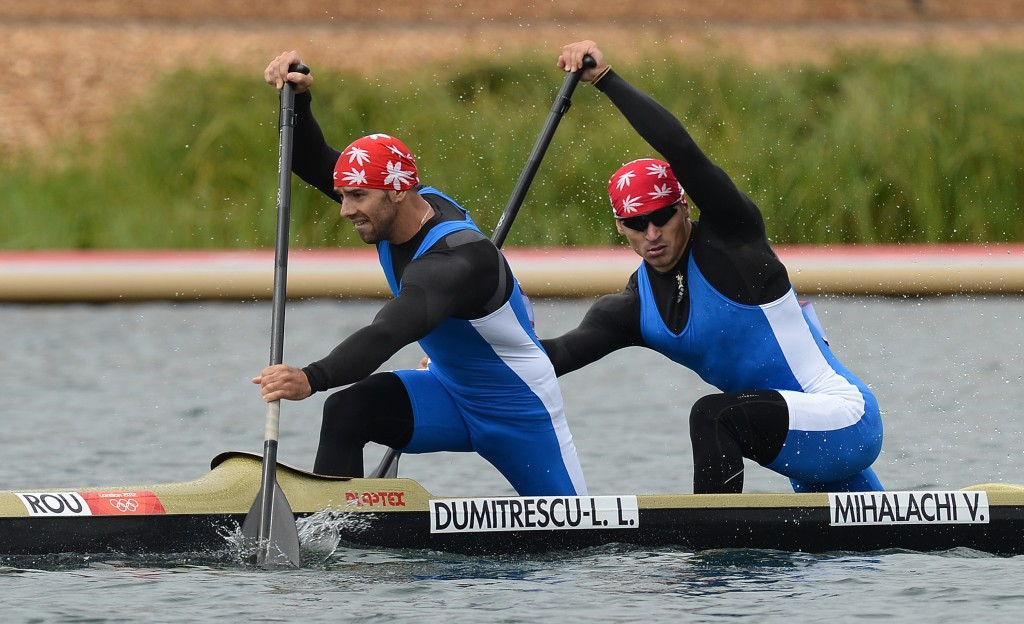 Liviu Dumitrescu (left) is among eight Romanian canoe sprinters to be embroiled in doping scandals ©Getty Images