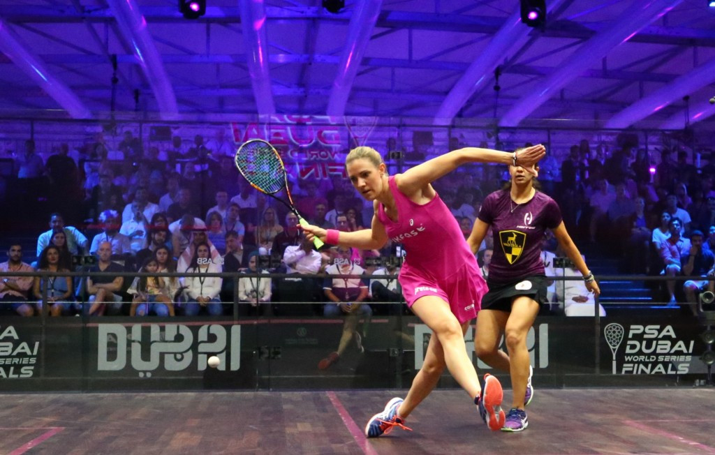 Laura Massaro earned a five-game win to claim the women's title in Dubai ©Getty Images