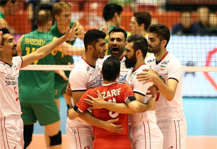 Iran produced a fluent display as they started with a win by beating Australia in straight sets