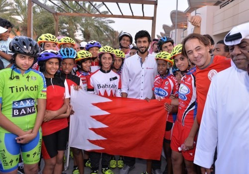 Thousands participate in Bahrain Olympic Day as Shaikh Nasser launches cycling team