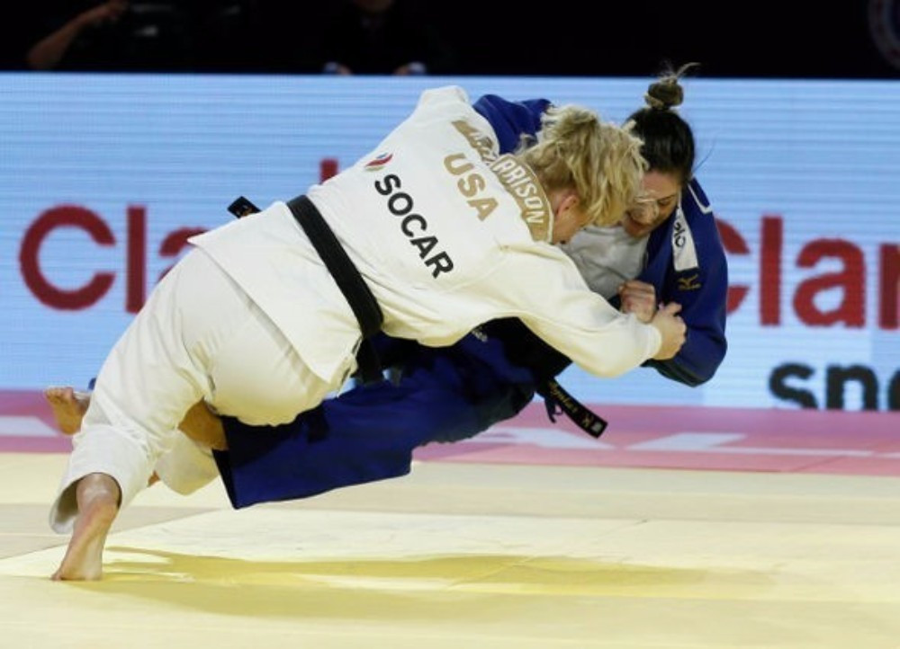 Harrison wins duel with Rio 2016 rival at IJF World Judo Masters