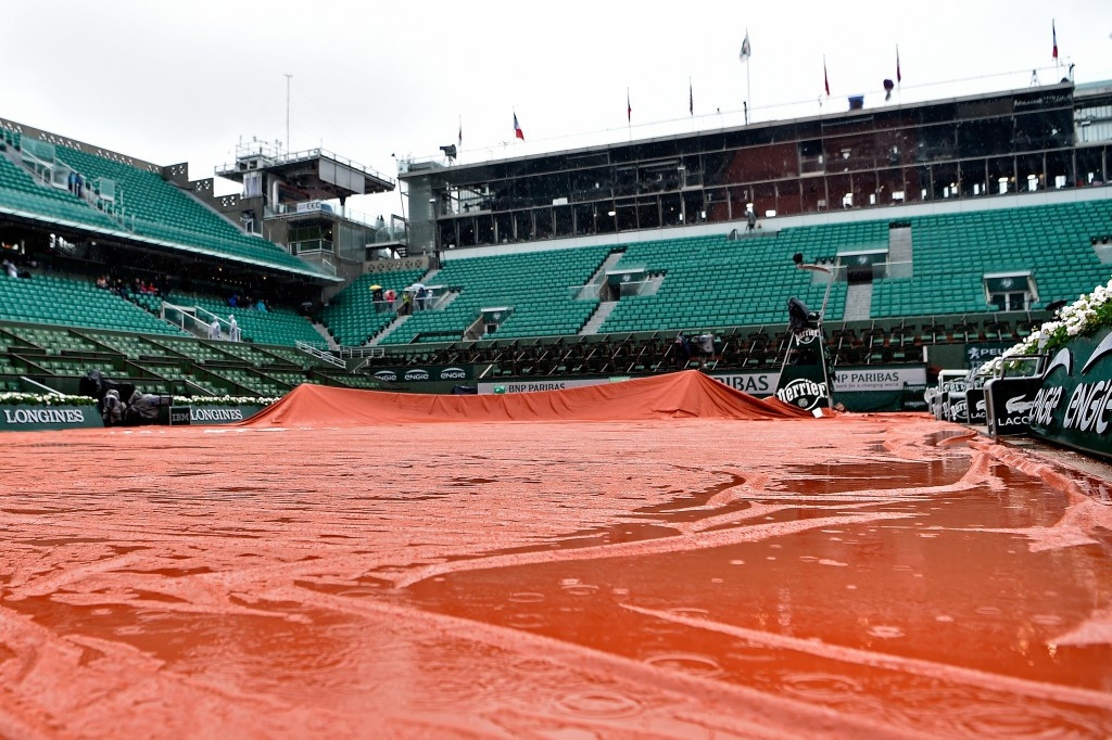 Torrential rain forces first complete washout at French Open for 16 years