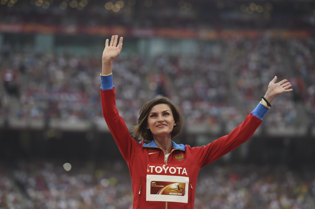 High jumper Anna Chicherova, winner of an Olympic bronze medal at Beijing 2008, followed by gold in London four years later, is one of nine Russian medallists from the Games in the Chinese capital now implicated in doping ©Getty Images