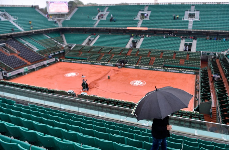 Rain prevented any play for the first time since 2000  at the French Open - but  Paris 2024 does not believe having a roof on the Philippe Chatrier court is